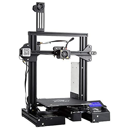 Creality 3D Drucker Ender 3 Pro mit Meanwell-Netzteil, 32 Bit board und einer Jahresgarantie von 220 x 220 x 250 mm, stabiler Druck, 1.75 mm 3D-Drucker Filament, PLA, ABS, PETG geeignet