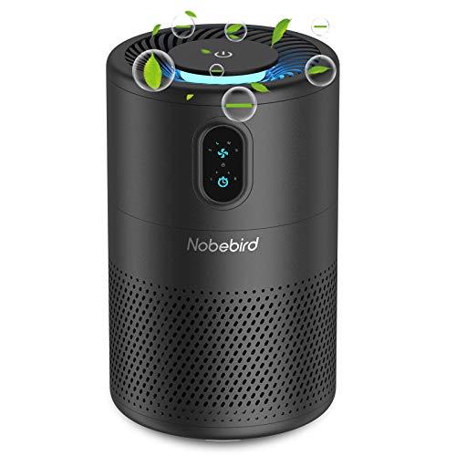 Nobebird H13 True HEPA Luftreiniger, Negative Ionen-Luftreiniger für zu Hause mit Timer, Nachtlicht und Schlafmodus, Beseitigung von Allergenen, Staub, Rauch, Hautschuppen