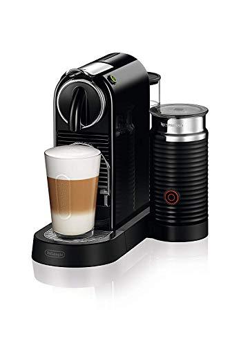 De'Longhi Nespresso Citiz EN267.BAE Kaffemaschine, Hochdruckpumpe und ideale Wärmeregelung mit Aeroccino (Milchaufschäumer), Energiesparfunktion, Schwarz