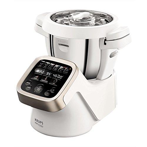 Krups Prep&Cook Multifunktions- Küchenmaschine HP5031 | 1550 Watt | bis zu 12.000 U/min | mit Kochfunktion | Weiß/ Edelstahl