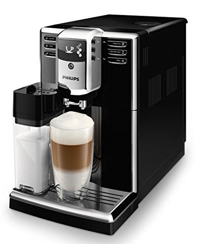 Philips 5000 Serie EP5360/10 Kaffeevollautomat, 6 Kaffeespezialitäten (integriertes Milchsystem) Klavierlack-schwarz/Schwarz