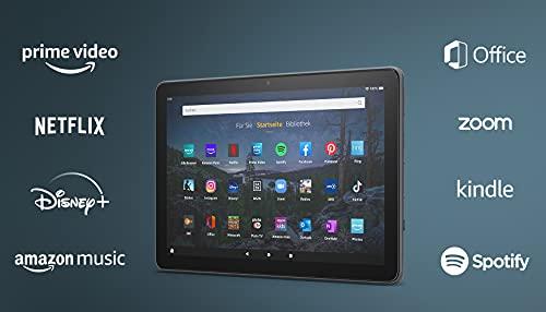 Neu: das Fire HD 10 Plus-Tablet   25,6 cm (10,1 Zoll) großes Full-HD-Display (1080p), 32 GB, Schiefergrau – mit Werbung