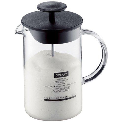 Bodum Latteo Milchaufschäumer–glatte Kunststoff Deckel mit tiefem Rand zu verhindern Schaumstoff Verschütten beim Schäumen.