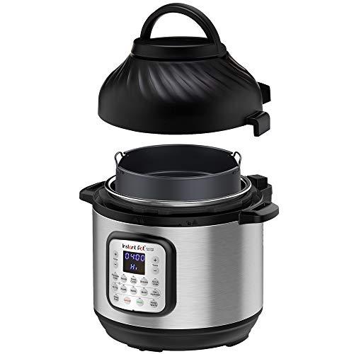 Instant Pot Duo Crisp + Air Fryer 8L Multikocher.11 Funktionen in 1: Schnellkochtopf, Bratpfanne, Dampfgarer, Slow Kocher