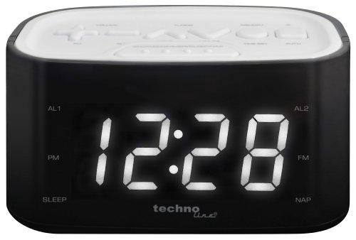Technoline WT 465 LED Radiowecker mit Tasten im Play-Controller Design, weiß
