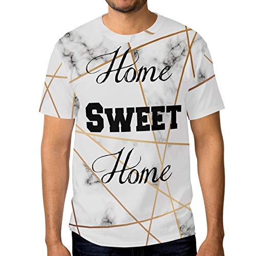 Herren-T-Shirt Marmor Sweet Home Rundhalsausschnitt Gr. M, multi