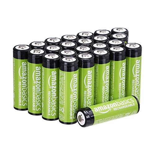 Amazon Basics AA-Batterien, wiederaufladbar, 2000 mAh, 24 Stück, vorgeladen