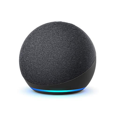 Echo Dot (4. Generation), Zertifiziert und generalüberholt, Anthrazit   Smarter Lautsprecher mit Alexa