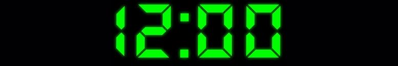 Radiowecker digitale Zeitanzeige