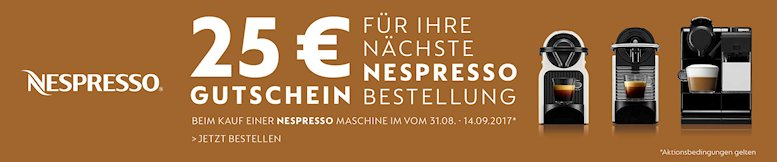 nespresso gutschein aktion25 euro amazon